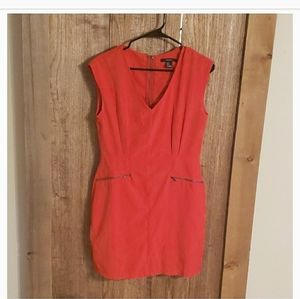 Fiery red slimming cocktail dress